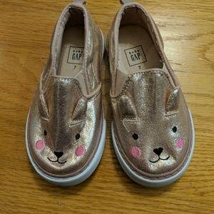 Baby Gap rose gold toddler sneakers